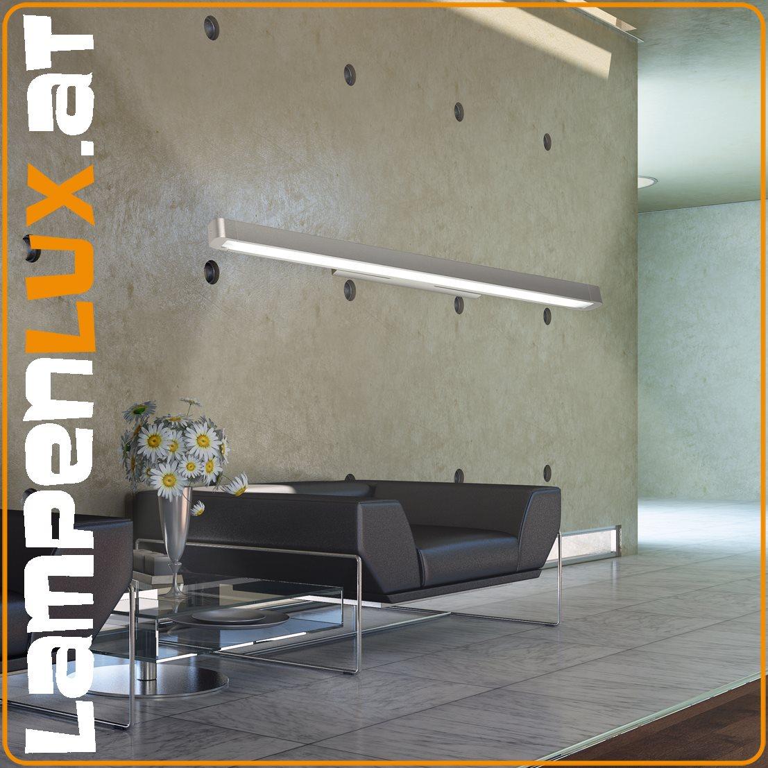 Lampenlux Spiegellampe Spiegelleuchte Pelle Badlicht silber 14/21W Länge: 60/90 cm