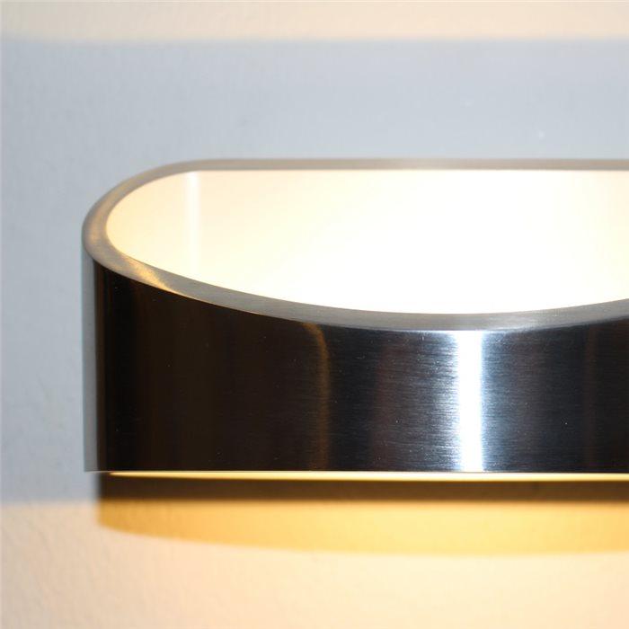 Lampenlux LED Wandlampe Racki Wandleuchte Up Down Stimmungslicht Chrom Oval