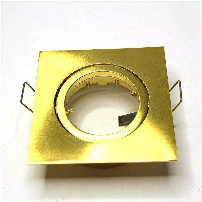 Lampenlux Einbaustrahler Spot Snap eckig schwenkbar Gold gebü. 8.2x8.2cm 230V rostfreiEinbauleuchte Einbaulampe Einbauspot Spot Strahler Punktstrahler Aluminium Downlight Down Deckeneinbaustrahler Deckeneinbauleuchte