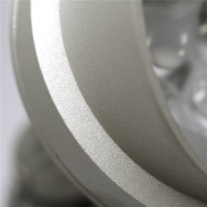 Lampenlux LED Aussenleuchte Wegeleuchte Gartenlampe Erdspieß IP44 Alu 230V Grau