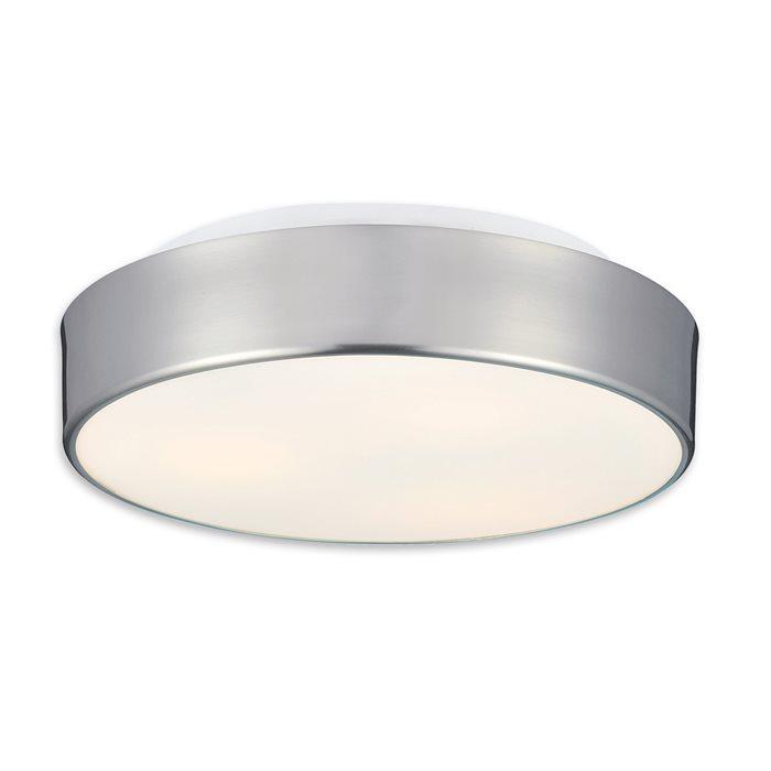 Lampenlux LED Deckenlampe Deckenleuchte Dago Glasschirm nickel satiniert E27 12W Ø:32cm Glas Schirm