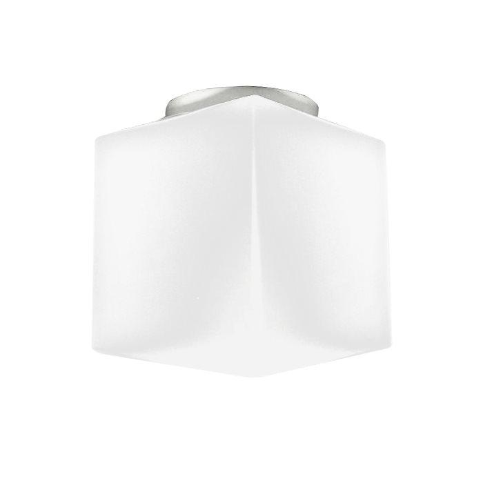 Lampenlux Aussenleuchte Danny 230V Deckenlampe Deckenleuchte Fassung E27 Badlampe Würfel Glas Weiß Terasse