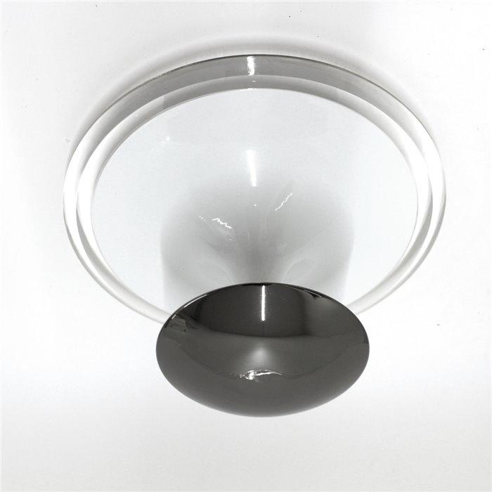 Lampenlux Deckenleuchte Gino weiss/schwarz Glasleuchte Ø:40cm