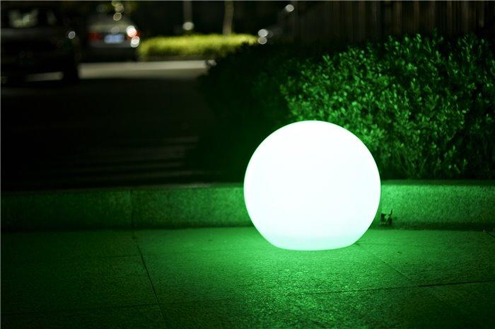 Lampenlux LED Aussenleuchte Ziro IP65 Gartenlampe E27 Wegeleuchte Kugellampe Ø56/45/38cm IP65 230V