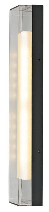 Lampenlux LED Außenleuchte Fabi Wandlampe Wandleuchte Alu Schwarz 61cm IP65 230V