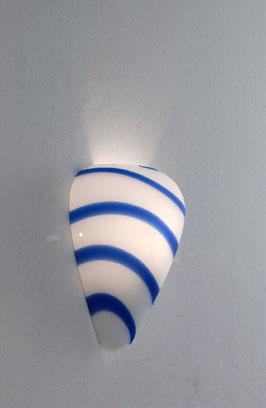 Lampenlux Wandleuchte Roseus Wandlampe Muranoglas Blau Weiß R7s 100W