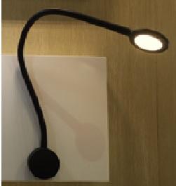 Lampenlux LED Wandlampe Wandleuchte Sula USB Ladegerät 2A 500mV Leselampe Leseleuchte Schalter Schwanenhals Flexiarm Bettleuchte Bettlampe Schwarz