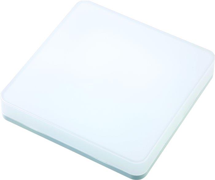 Lampenlux LED Badezimmer Deckenleuchte Kara Weiß Rund Eckig 26cm 15W H: 5.2cm