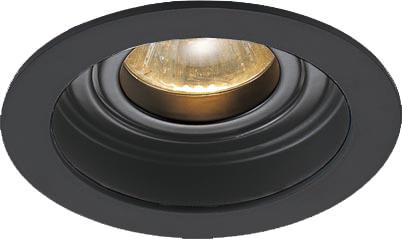Lampenlux LED-Einbaustrahler Spot Sandi rund schwarz dreh- und schwenkbar Ø10.2cm Einbauleuchte Einbaulampe Einbauspot Spot Strahler Punktstrahler Aluminium Downlight Down Deckeneinbaustrahler Deckeneinbauleuchte