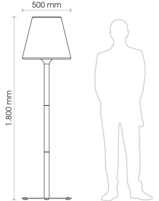 Lampenlux LED Außen Stehlampe Stehleuchte Eiker Licht 4W H:180cm Ø50cm