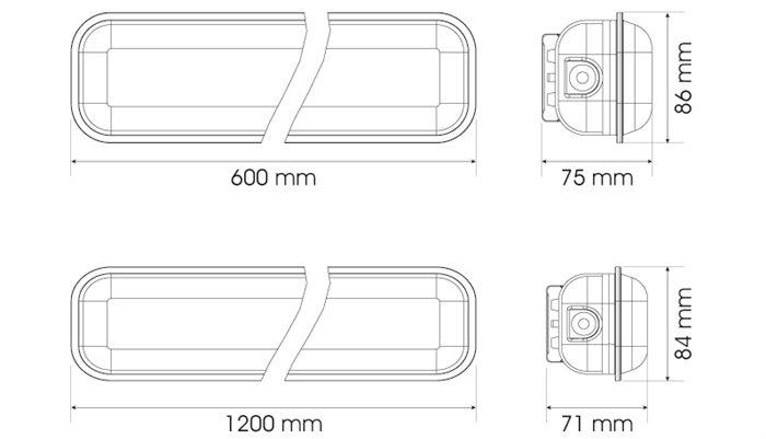Lampenlux LED Aussenleuchte Denny Deckenlampe 230V Werkstattlampe Gartenlampe