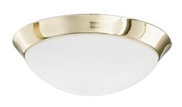 Lampenlux LED Deckenleuchte Dodo IP44 230V Deckenlampe Badlampe Rund Glas Fassung E27 Ø28cm - Ø40cm Terasse Gold Nickel Chrom Badezimmer Flur