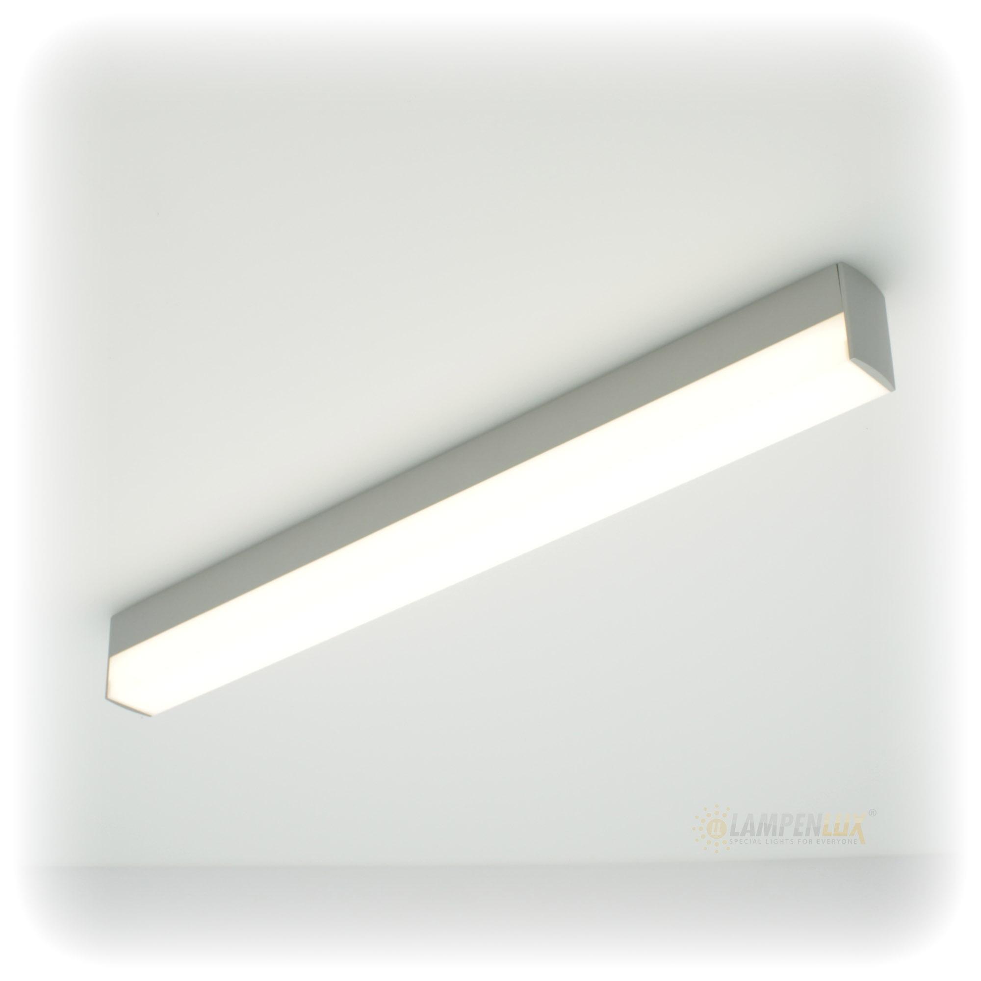 Lampenlux LED Wandlampe Wandleuchte Aaron Badlicht grau 24W 120cm inkl. LM