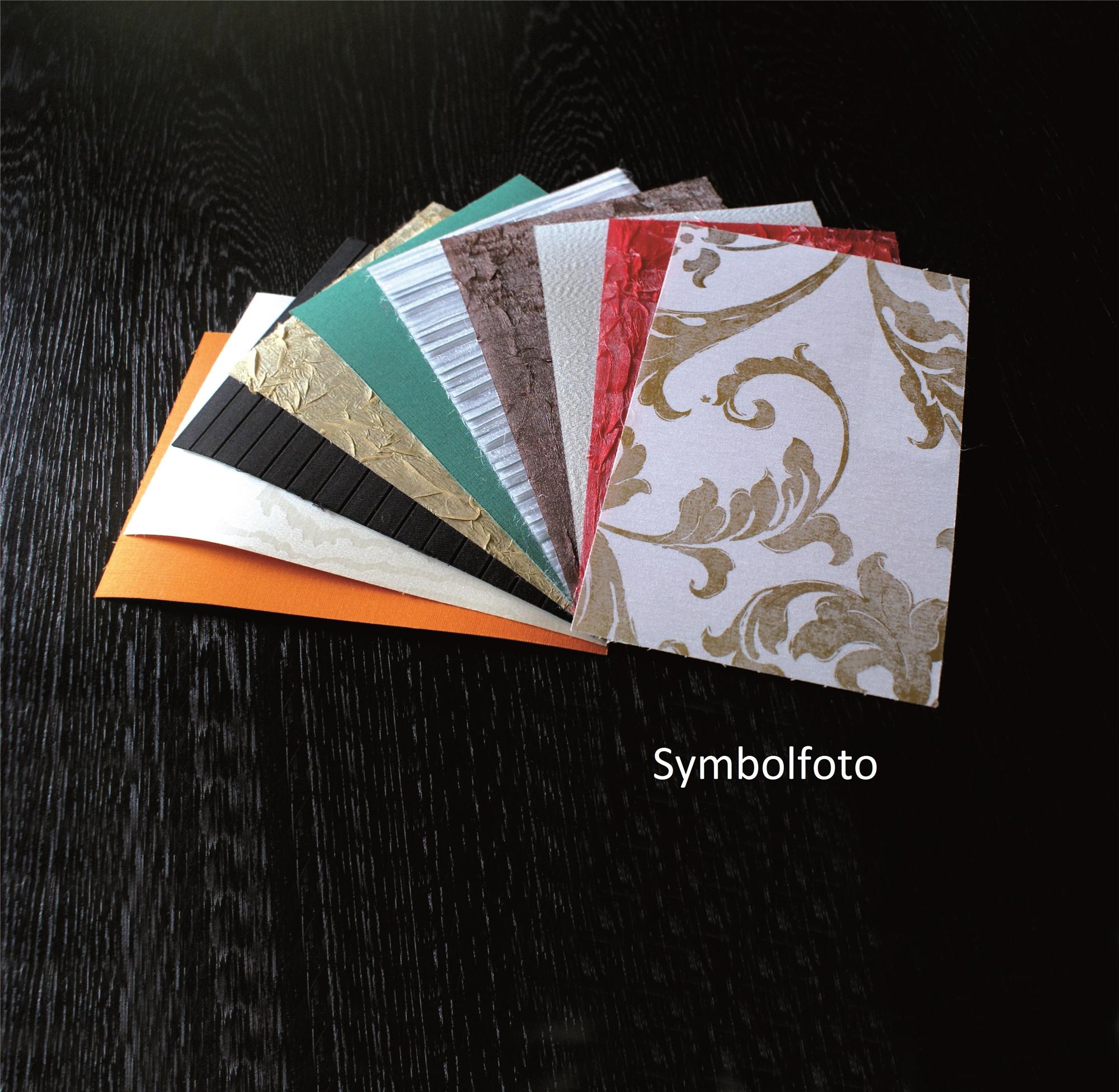 Stoffmuster 20kg Chintz Plissee Silber Gold Folie Lamitex Knitter verschiedene Farben