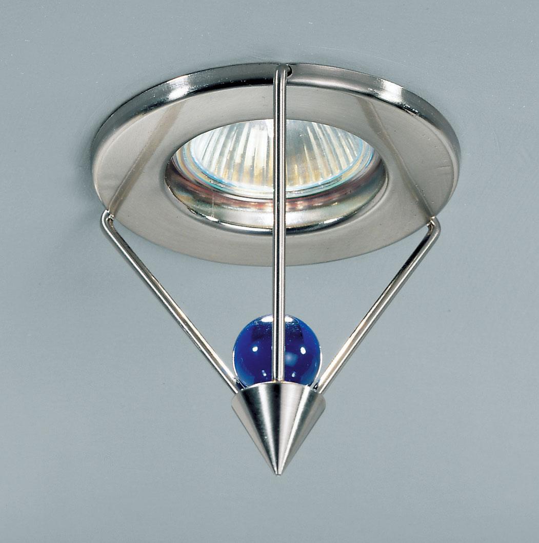 Lampenlux Einbaustrahler Einbauleuchte Spot Brann Glas Kugel rund rostfrei Aluminium B-Ware