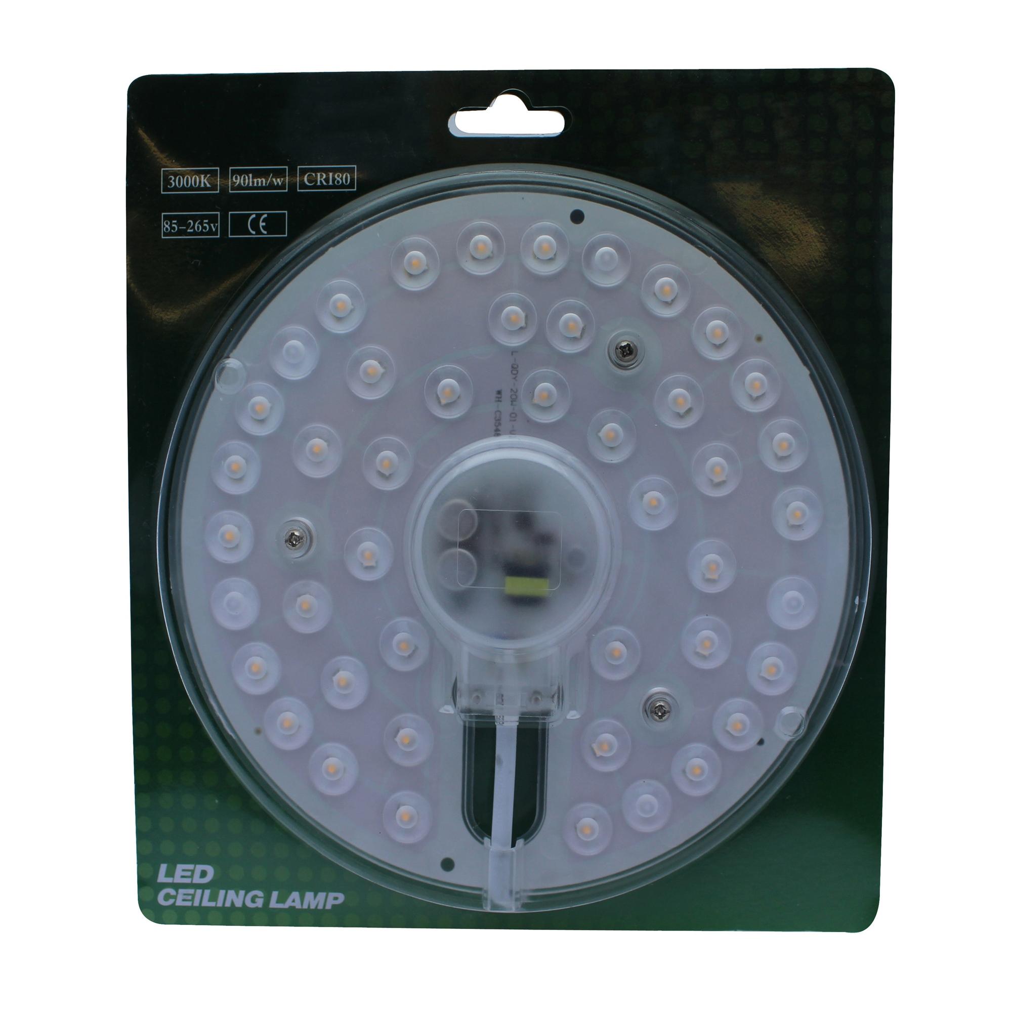 Lampenlux Plato LED Platine Rund Umrüstmodul 230 V 1800 Lumen warmweiß Ø 18 cm Magnethalterung 3 cm flach
