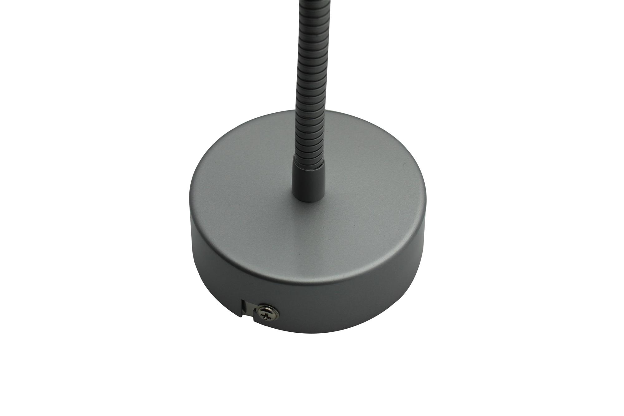 Lampenlux LED Wandlampe Wandleuchte Nadela Leselampe nickel 3W Länge: 41 cm