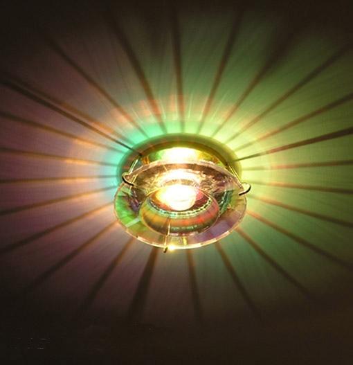 Lampenlux LED-Einbaustrahler Ramus rund Glas Gold 12V MR16 rostfrei
