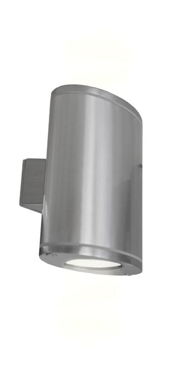 Lampenlux Außenleuchte Wandleuchte Domi Nickel Geb. 230V 2x GU10 3W