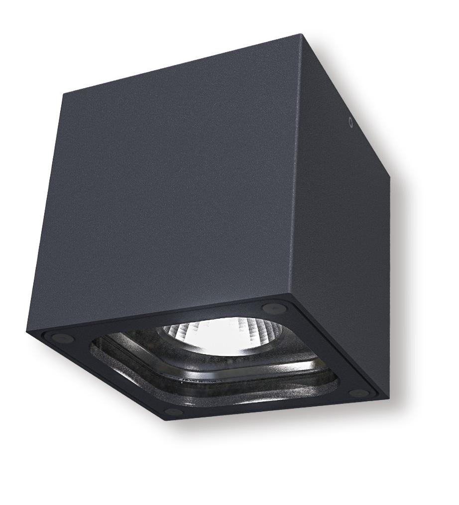 Lampenlux Außenleuchte Marcie Aluminium Schwarz 400lm 6W LED 3000K IP54