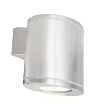Lampenlux LED Aussenleuchte Norb Wandlampe Wandleuchte Oval Aluminium Grau 3W IP44