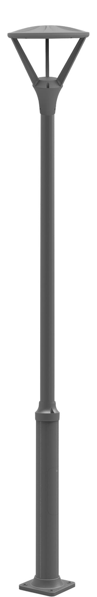 Lampenlux Außenleuchte Janie Aluminium Schwarz 5760lm 60W LED 3000K IP65 Ø42cm