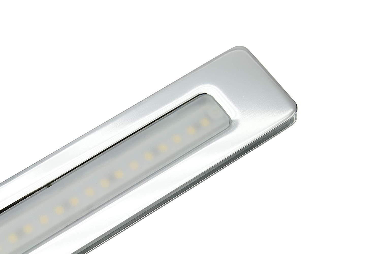 Lampenlux LED Unterbauleuchte Midgel Spiegelleuchte silber 7W Spiegel Schrank warmweiß