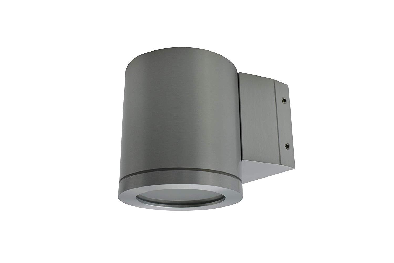 Lampenlux Wandlampe Karim Rund IP54 Außenleuchte Aluminium GU10 Höhe 8cm