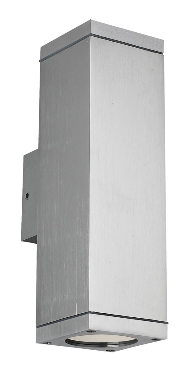 Lampenlux Aussenleuchte Elton IP65 GU10 Eckig Silber aus Aluminium