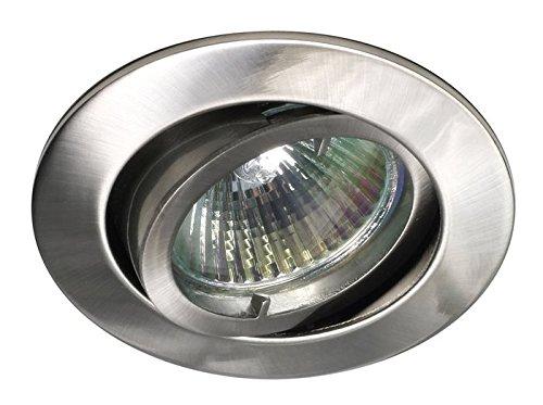 Lampenlux LED-Einbaustrahler Samila Spot rund schwenkbar Nickel gebürstet MR16 12V Aluminium