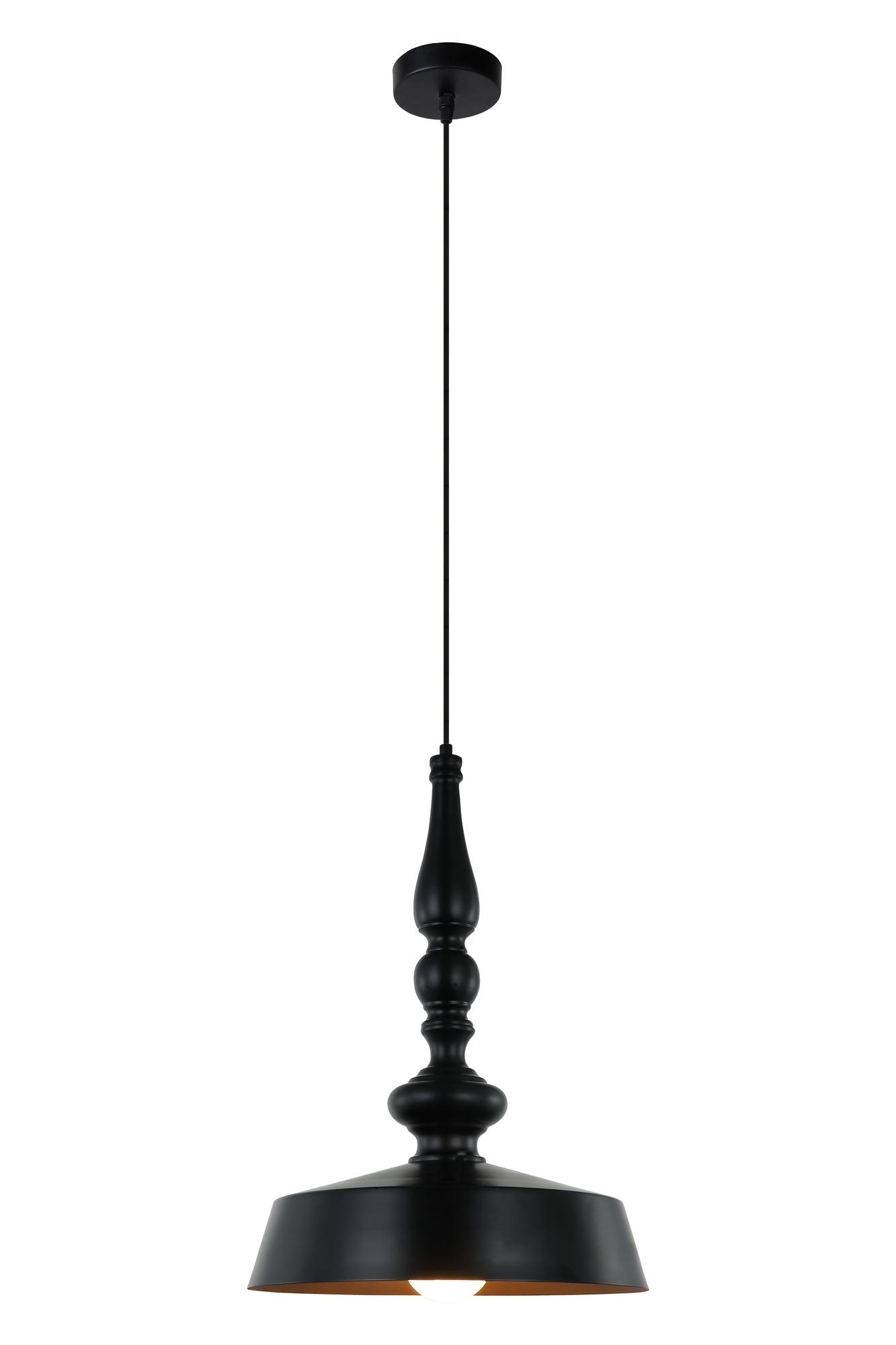 Lampenlux Hängeleuchte Thea Schwarz/Gold Pendellampe E27 40W