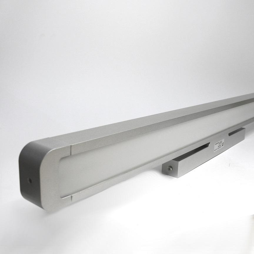 Lampenlux Spiegelleuchte Pelle Wandleuchte silber 14/21W Länge: 60/90 cm