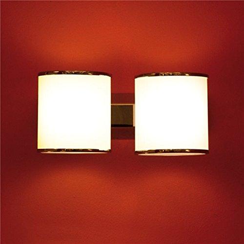 Lampenlux Wandlampe Wandleuchte Remus weiss G9 zweiflammig