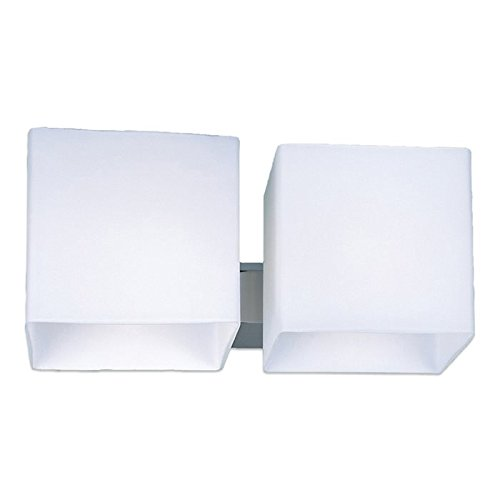 Lampenlux Up/Down Wand Lampe Leuchte Raven 2-flammig Effekt Weiß Light Bad Spiegel