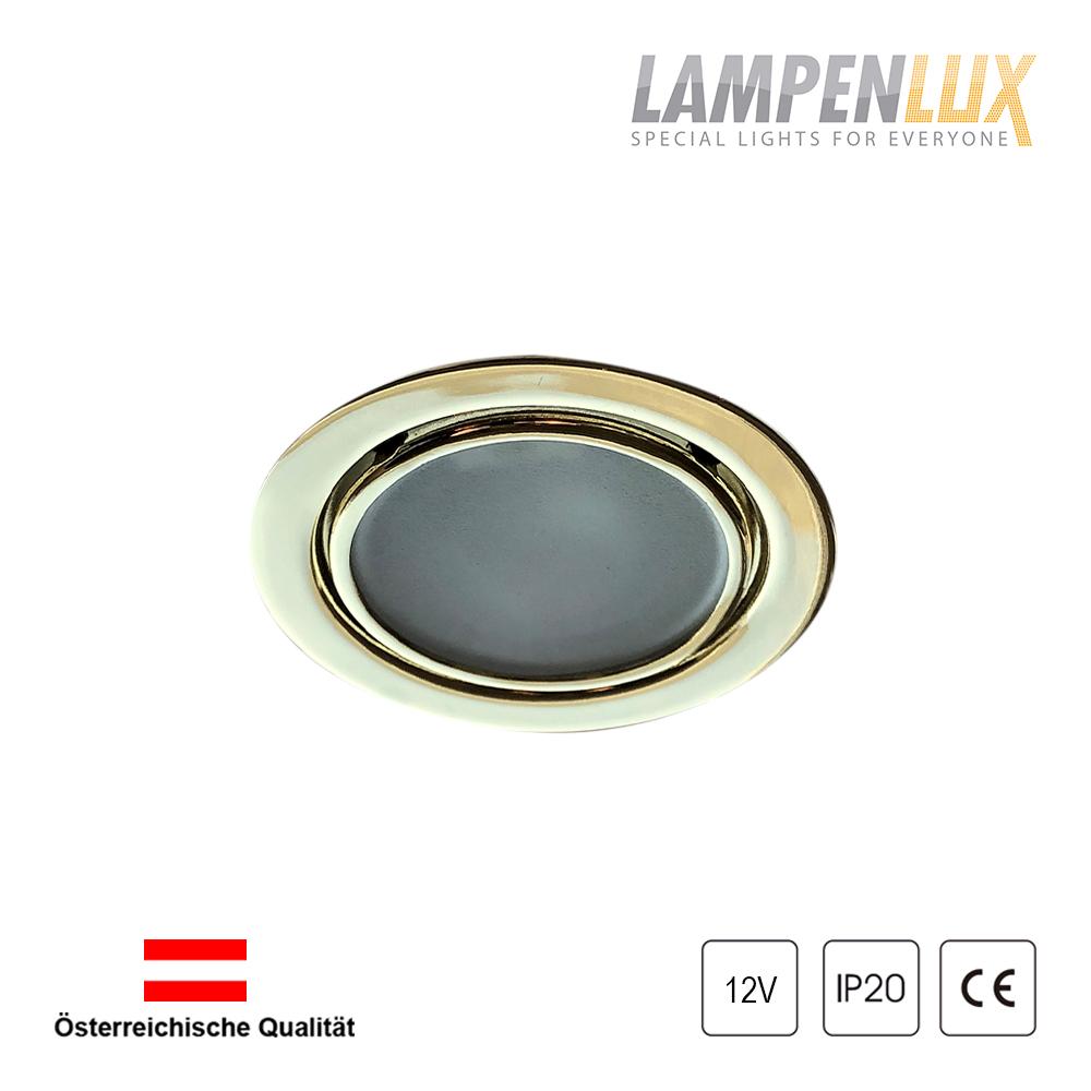 Lampenlux Einbaustrahler Rodan Wand Gold blendfrei 12V