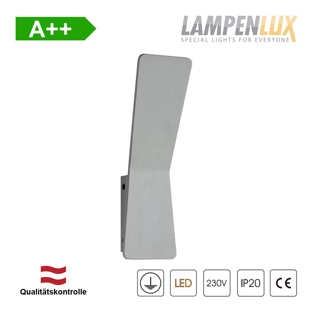 Lampenlux LED Wandlampe Rakki Effektlampe Aluminium 6W IP20