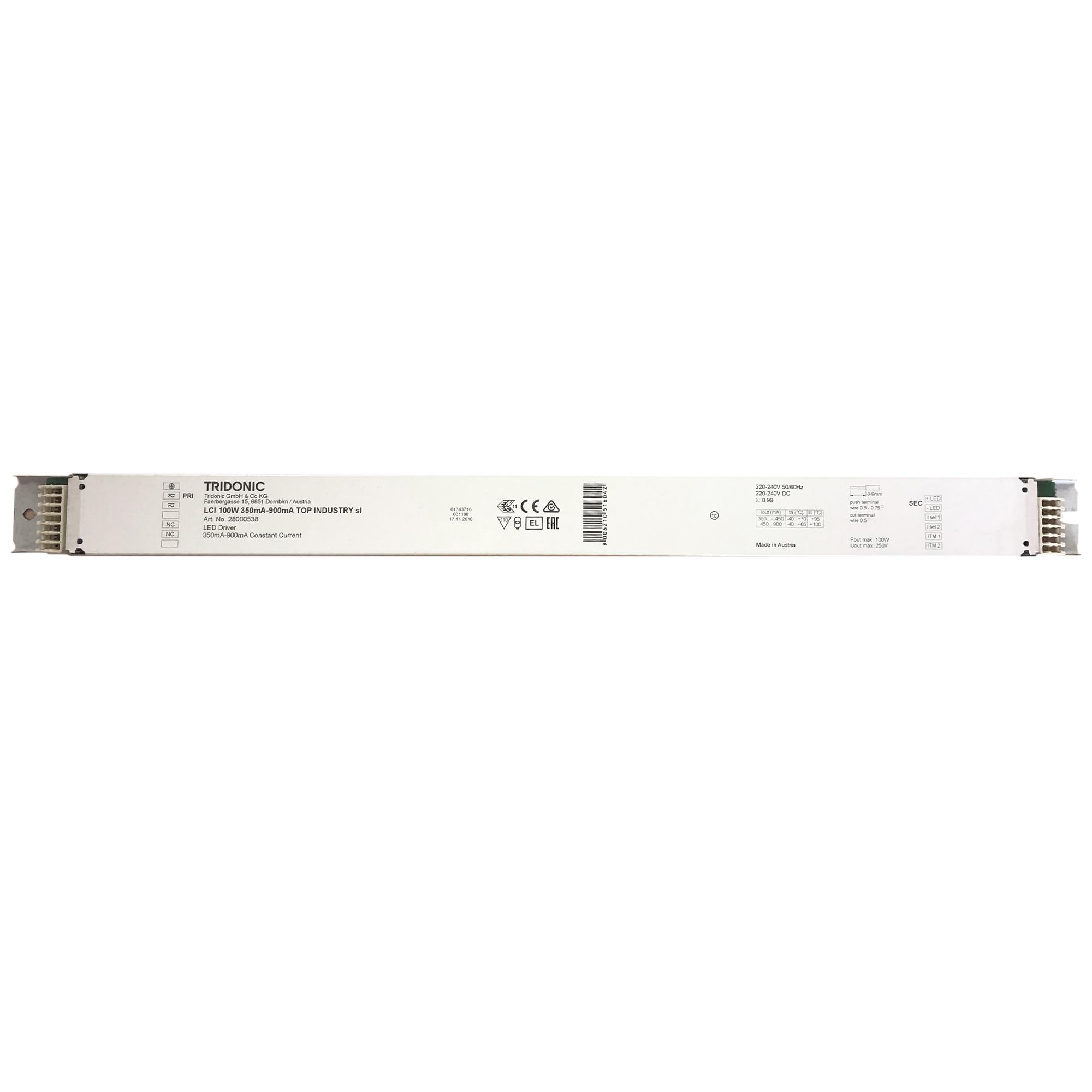 Tridonic LCI 100W 350mA-900mA Konstantstrom LED Trafo