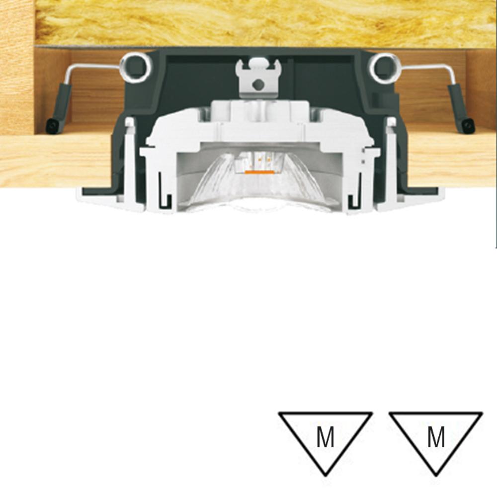 Lampenlux LED schwenkbarer Einbaustrahler Erika runder flacher LED Spot 34mm Tiefe 6,5W 3000K 230V IP44