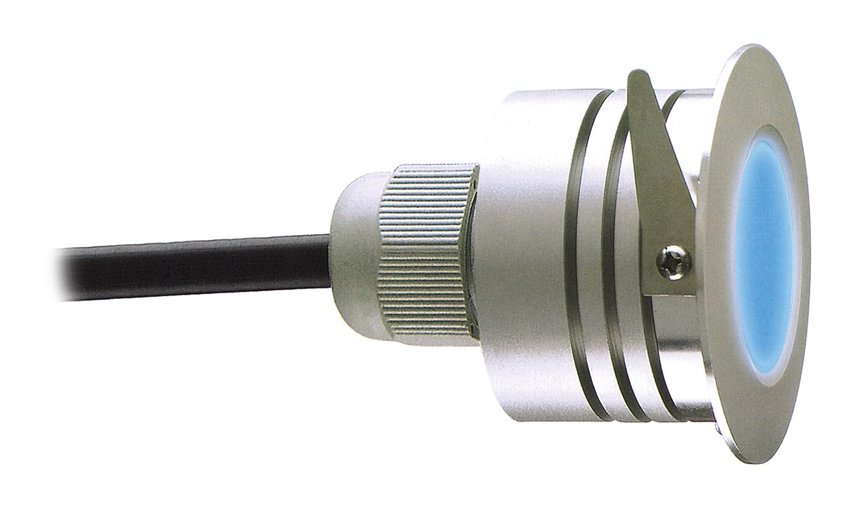 Lampenlux LED RGB Einbaustrahler Amalfi Außenleuchte 230V Spot Farbwechsler Silber IP44