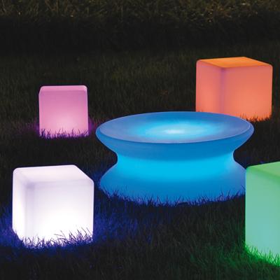 Lampenlux LED RGB Außenleuchte Udos Gartentisch Gartenlampe Stimmung Ø82cm mit Akku