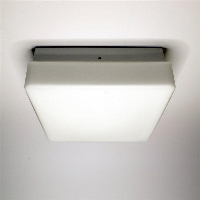 Lampenlux Deckenlampe Deckeleuchte Diego Glasschirm weiss E14