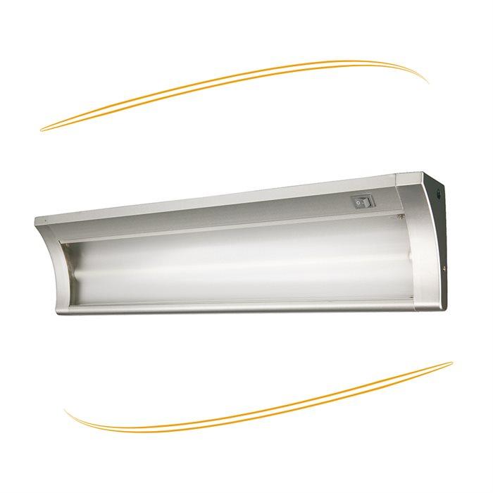 Lampenlux Unterbauleuchte Marti Küchenleuchte Aufbaulampe Beige Schalter Stromkabel 60cm