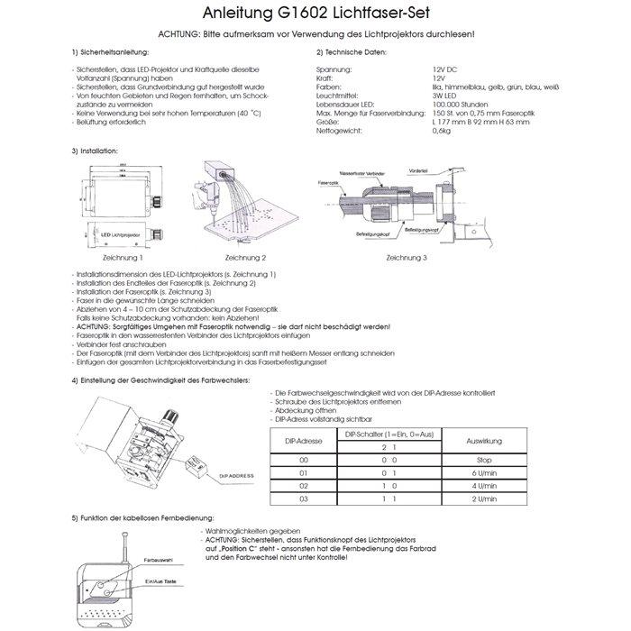 Lampenlux LED Sternenhimmel Lichtfaserset Skylight Multicolor mehrere Farben 3W 60 Fasern +FB+Trafo