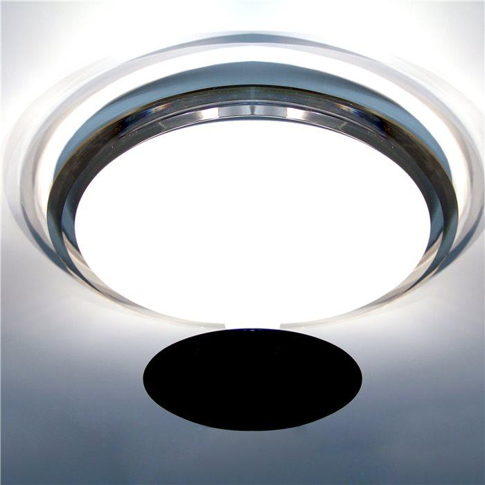 Lampenlux Deckenleuchte Deckenlampe Gino weiss/schwarz T5 22/32W Ø:30/40cm