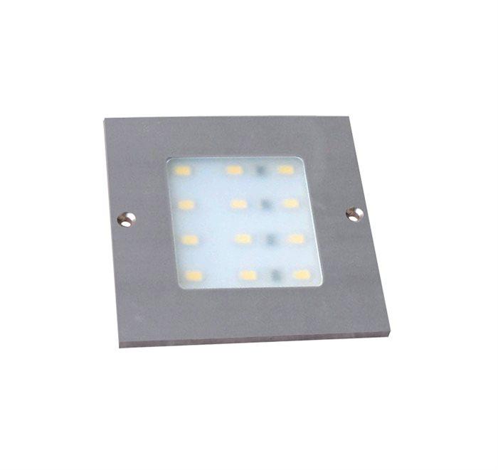 Lampenlux LED Unterbauleuchte Midge Küchenleuchte Küchenlampe Aufbauleuchte Aufbaulampe sehr flach Aluminium 230V Silber 8cm - 86cm 1-3 flammig 12V