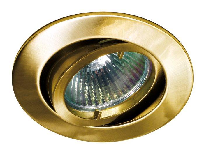Lampenlux LED-Einbaustrahler Spot Samila rund schwenkbar gold Gebür. rostfrei 8.3cm GU10Einbauleuchte Einbaulampe Einbauspot Spot Strahler Punktstrahler Aluminium Downlight Down Deckeneinbaustrahler Deckeneinbauleuchte