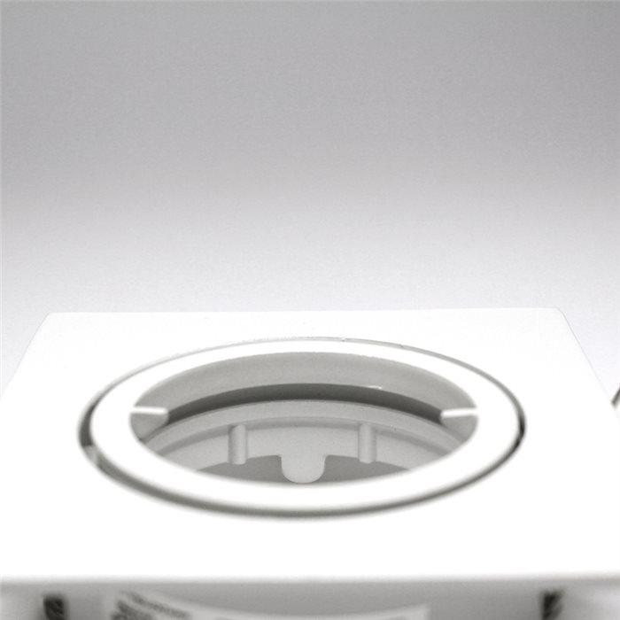 Lampenlux Einbaustrahler Spot Snap eckig weiß schwenkbar 8.2x8.2cm 12V MR16 rostfreiEinbauleuchte Einbaulampe Einbauspot Spot Strahler Punktstrahler Aluminium Downlight Down Deckeneinbaustrahler Deckeneinbauleuchte