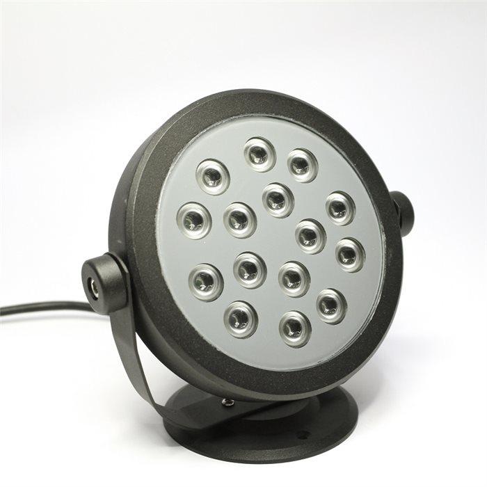 Lampenlux LED Aufbaustrahler Eddi Fluter Gartenlampe Schwarz 15W Scheinwerfer