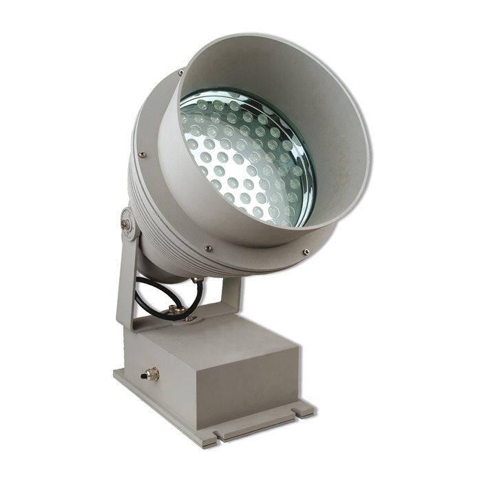 Lampenlux LED Außen Aufbau Strahler Lampe Leuchte Ichy Fluter Grau 108W 230V Objekt Garten