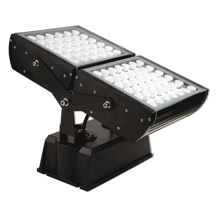 Lampenlux LED Außen Aufbau Strahler Lampe Leuchte Iago Fluter Schwarz 94W Objekt Garten